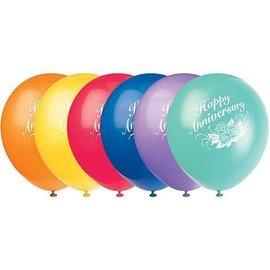Balloons-Latex-Happy Anniversary-12'' (6pk)