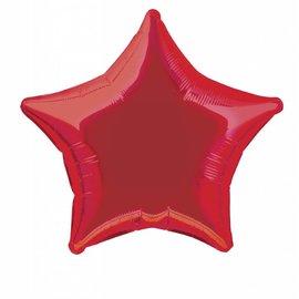 "Foil Balloon - Red Star - 20"""