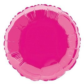 Foil Balloon - Hot Pink Round- 18""