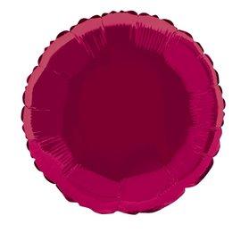 Foil Balloon - Round - Burgundy - 18''