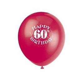 Balloons-Latex-Happy 60th Birthday-12'' (6pk)