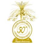 """Centerpiece - Foil Cascade - Golden 50th Anniversary - 1pkg - 13"""""""