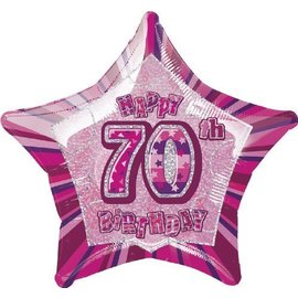 Foil Balloon - Star Prism - 70th Happy Birthday - 20''