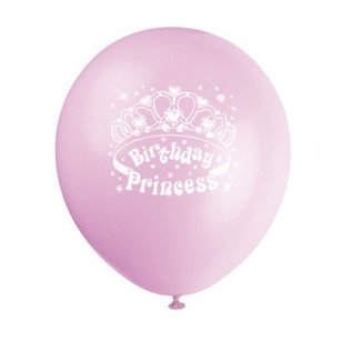 Balloons-Latex-Birthday Princess-12''-6pk