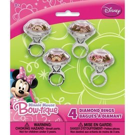 Diamond Rings-Minnie Mouse Bow-tique-4pk