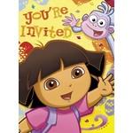 Invitations-Dora the Explorer-8pk