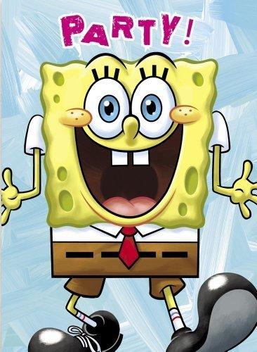 Invitations SpongeBob 8pk