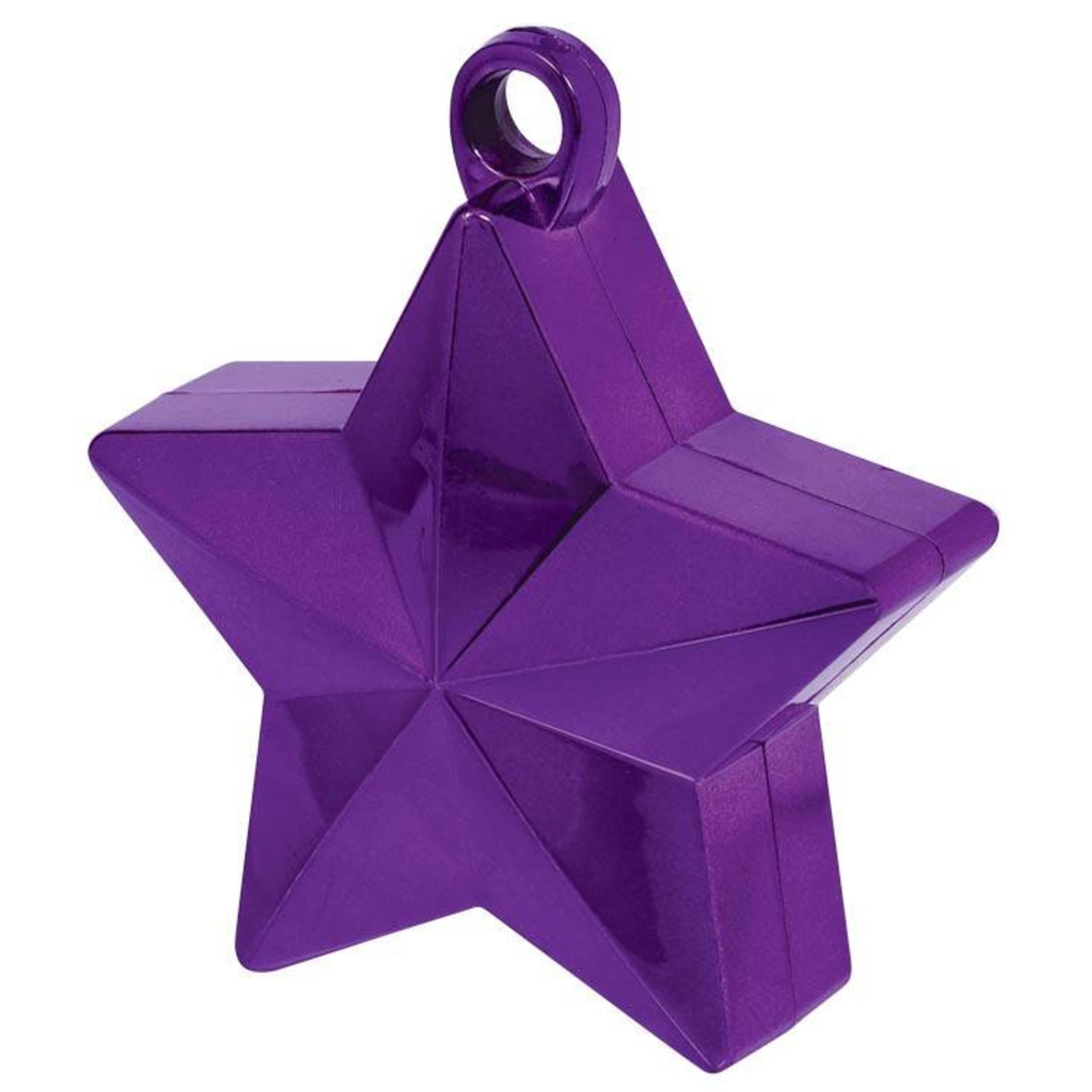 Balloon Weight-Star Electroplated- Purple-6oz