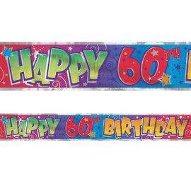 Banner-60th Birthday-Foil-12ft