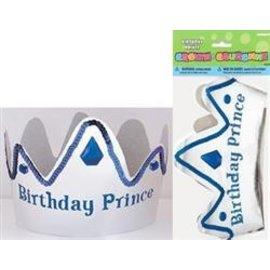 Paper Tiara- Blue & Silver Birthday Prince