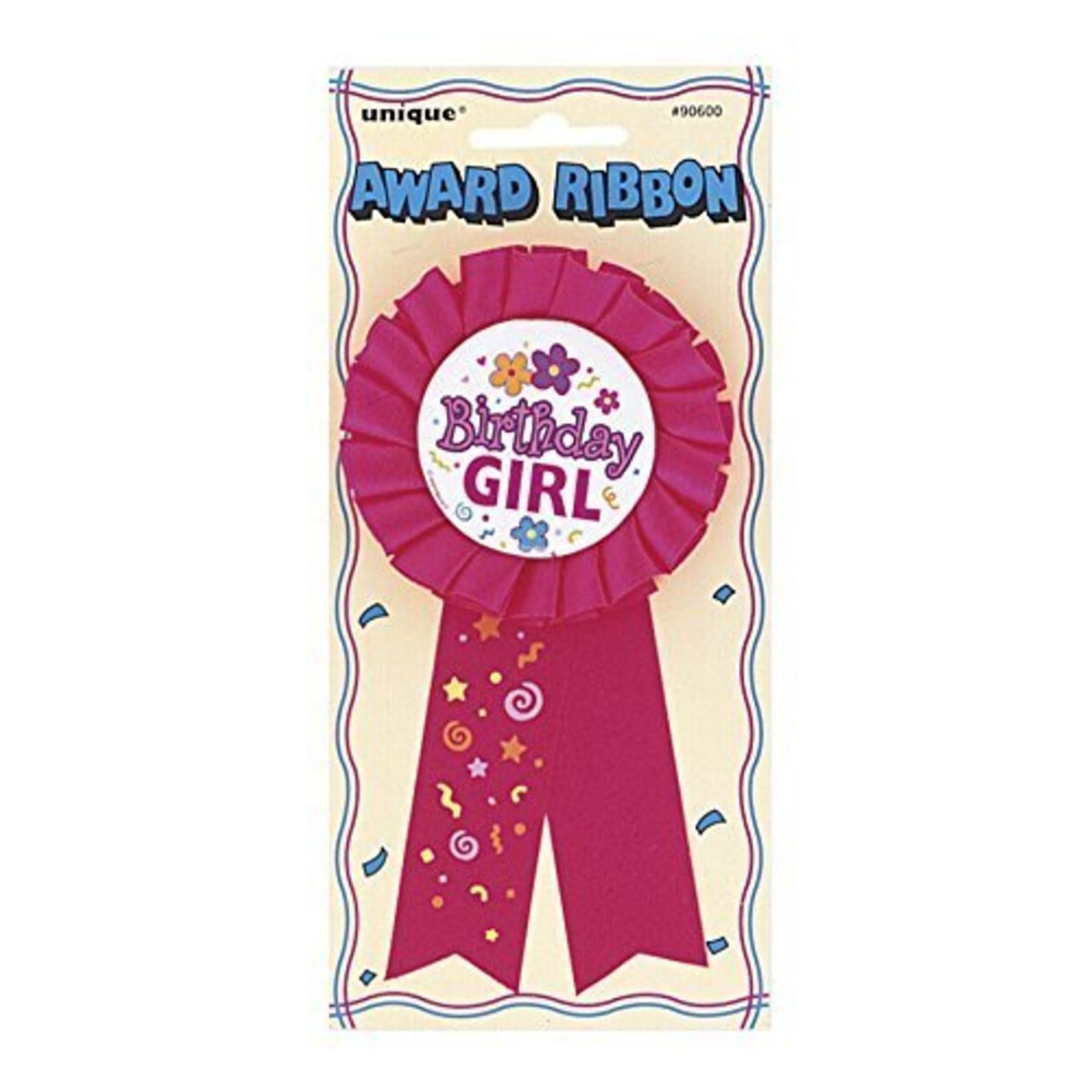 "Award Ribbon-Birthday Girl-1pkg-5.5"""