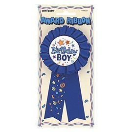 Award Ribbon-Birthday Boy-Blue (1pk)