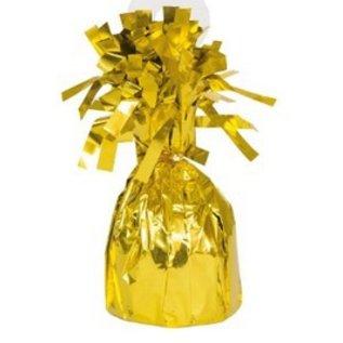 """Balloon Weight-Foil-Gold-1pkg-4.5""""x2.25"""""""