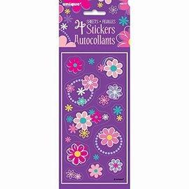 Sticker Sheets- Flowers- 4pk/11 Each