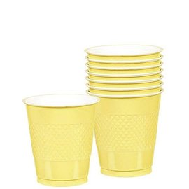 Cups-Light Yellow-20pkg/12oz-Plastic