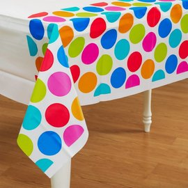 Table Cover -Cabana Dot-Plastic-54'' x102''