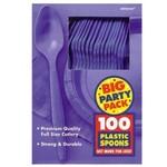 Spoons-Premium-New Purple-Box/100pkg-Plastic