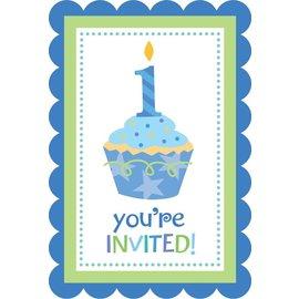 Invitations-Cupcake Bday-20pk