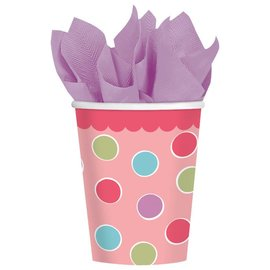 Cups-Cupcake Girl-Paper-9oz-18pk - Discontinued/Final Sale