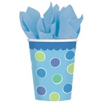 Cups-Cupcake Boy-Paper-9oz-18pk - Discontinued/Final Sale