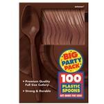 Spoons-Premium-Chocolate Brown-Box/100pkg-Plastic