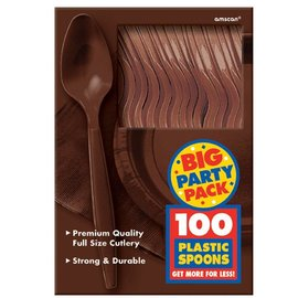 Spoons-Premium-Chocolate Brown-Box/100pkg-Plastic