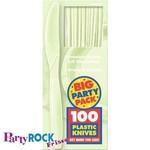 Knives-Premium-Leaf Green-Box/100pkg-Plastic