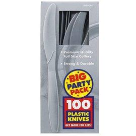 Knives-Premium-Silver-Box/100pkg-Plastic