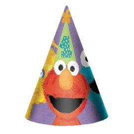 Hats-Sesame St-8pk-Paper
