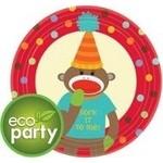 Plates-BEV-Monkey Party-8pkg