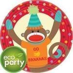 Plates-LN-Monkey Party-8pk-Paper