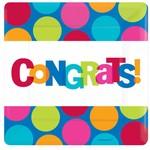 Plate-BEV-Congrats-8pk-Paper - Discontinued/Final Sale