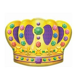 Cutout-Mardi Gras Crown-Plastic-18''x14.5''
