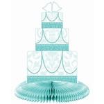 Centerpiece-Bridal Blue-Honeycomb Dress & Cake-24''