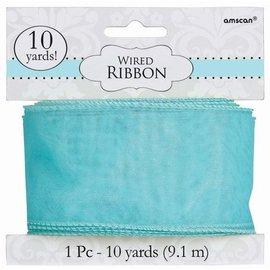Wire Ribbon-Robin's Egg Blue-9.1m