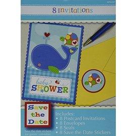 Invitations-Baby Shower-Ahoy Baby-8pk