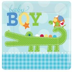Beverage Plates-Ahoy Baby-8pk-Paper - Discontinued