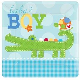 Plates BEV-Ahoy Baby-8pk-Paper - Discontinued