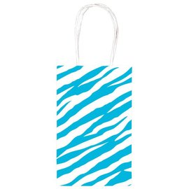 Gift Bag-Zebra Blue-1pkg-8.5''