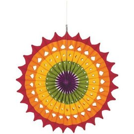 Danglers-Paper Fan Decor- Multi Color-16''