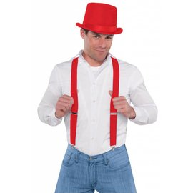 Costume Accessory-Red Suspenders-1pkg