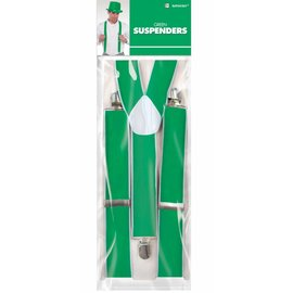 Costume Accessory-Suspenders-Green-1pkg
