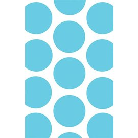 Favour Bag-Dots-Caribbean Blue-7'' x 4.5''-10pk