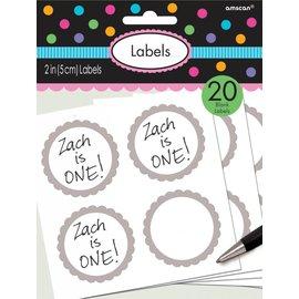Labels -Silver-20pk/2''
