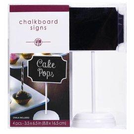 ChalkBoard Sign-4pk/3.5'' x 6.5''
