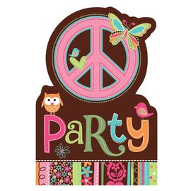 Invitations-Hippie Chick-8pk (Discontinued)