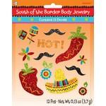 Body Jewlery-Mexican Fiesta -12pk