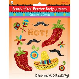 Body Jewlery-Mexican Fiesta -12pk