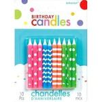 Birthday Candle-Neon-10pk/2.5''