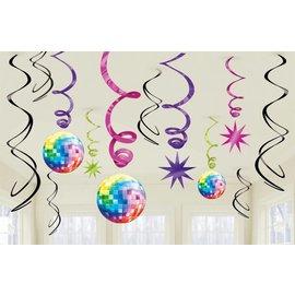 Danglers- Swirl-70's Disco-Foil-12pk